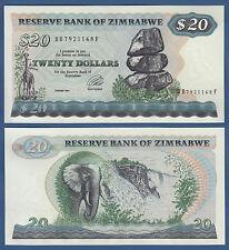 SIMBABWE / ZIMBABWE 20 Dollars 1994  UNC  P. 4 d