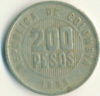 COIN / COLOMBIA / 200 PESOS 1995    #WT10193