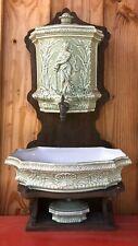 Fontaine Murale Faïence Art Nouveau TBE Complète Jugendstil Liberty Arts Crafts