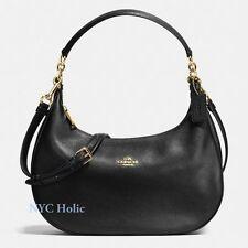 New Coach F38250 Harley East West Hobo In Pebble Leather Black Crossbody Handbag