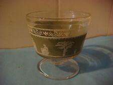 Wedgewood Green Drink GLASS ~*~ Greek & Roman People, Goddess, Statues, Trees +
