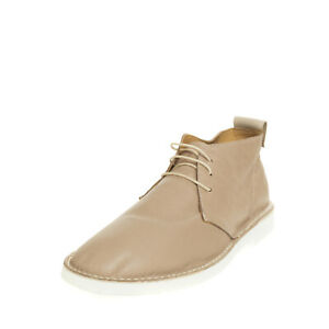 PANELLA Leather Chukka Boots Size 43 UK 9 US 10 Crumpled Effect Made in Italy