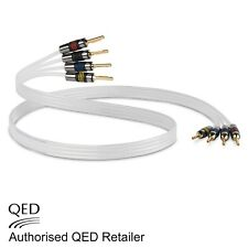 QED Silver Anniversary XT BI-WIRE Cable 4+4 AIRLOC Forte Plugs Fitted 1 x 1m
