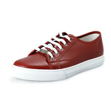 Gucci Men's 423301 A9L00 6420 Red Leather Fashion Sneakers Shoes