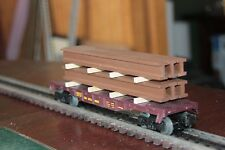 Handmade O gauge flat car load 1 stack of girders for 40' car (load only)
