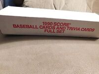 SCORE 1990 COLLECTOR SET 714 PLAYER CARDS & 56 MAGIC MOTION TRIVIA CARDS SEALED