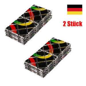 2 Stück 8 Panel 3Ring Rubik Master Magic Faltpuzzle Würfel Twisty Tees Spielzeug