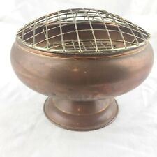 VINTAGE COPPER ROSE POSY BOWL FOOTED DISH