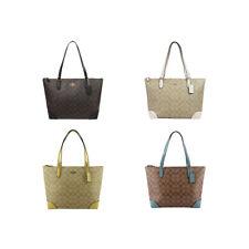 New Women's Coach F29208 Signature City Top Zip Tote Bag Purse Handbag Authentic