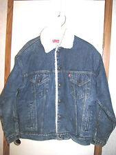 "Women""s Levi's San Francisco Denim Wool Lined Trucker Jacket Medium"