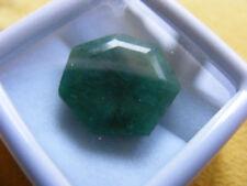 Esmeralda Natural 9.70 Cts Certificado IGL Colombia Emerald Gemstone Hexagon Cut