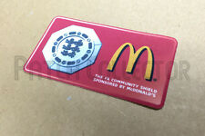 F.A. charity shiled mcdonald's soccer patch/badge 2010-2011