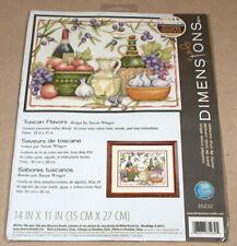 "Dimensions / Susan Winget ""Tuscan Flavors"" Wine / Grapes Cross Stitch Kit NIP"