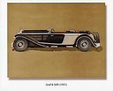 Old Print.  1931 Graf & Stift Tourer Automobile