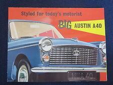"""AUSTIN A40 Sales Brochure 1960 Color 8"""" x 11"""" Fold Out Excellent Condition"""
