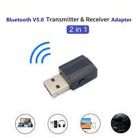 Bluetooth 5.0 Wireless Receiver Audio Adapter Transmitter 3.5mm Music AUX Car Js