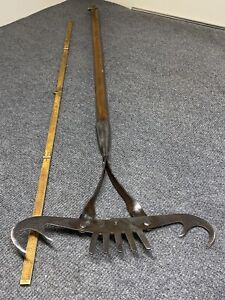 "Antique Norlund's Fish Spear Grabber Spring Loaded 36"" Long"
