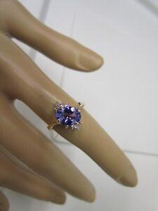 GORGEOUS ESTATE 14 KT GOLD 1.59 CTW.TANZANITE AND DIAMOND RING  !!!!!!!