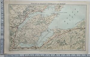 1884 SCOTTISH MAP FIRTHS OF BEAULY CROMARTY & MORAY DINGWALL NAIRN BLACK ISLE