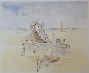 "SALVADOR DALI ""COSMIC CAVALIER HORSEMAN"" - OFFSET LITHOGRAPH, LTD. ED. 500, COA"