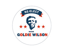 BTTF Back to the Future Re-Elect Mayor Goldie Wilson 12 x individual stickers