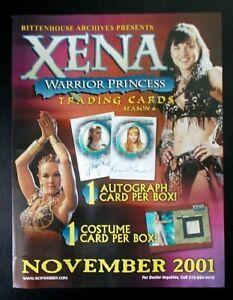 Xena Warrior Princess Season 6 Six trading cards dealers promo sell sheet