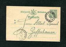 Württemberg P34  aus Bietigheim 20 Mai 1893   (EB-16)