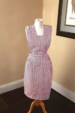 Vintage Candy Striper Nurse Uniform Apron 1960s Size M Halloween Costume