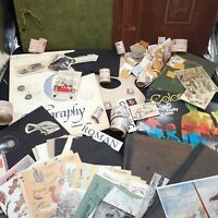 Ephemera Lot paper vintage book covers junk journaling collage scrapbook labels