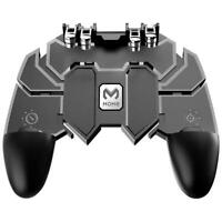 AK66 Six Fingers Game Controller Trigger Shooting Gamepad for PUBG Mobile Black