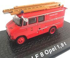 LF8 Opel 1,9 t Camión bomberos fire truck 1/72 ATLAS Diecast
