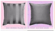 "IKEA Henrika Pillow Cushion COVER 20""Tonal Stripe Dark Gray-MultipleShipW/Discnt"