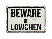 374Vs Beware Of Lowchen 8� x 12� Vintage Aluminum Retro Metal Sign