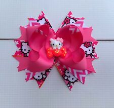 "4.5"" Handmade Pink Hello Kitty Boutique Hair Bow"