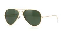 Ray-Ban RB3025 W3234 55MM Aviator Gold Sunglasses G15 Green Lens 100%UV