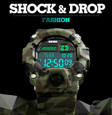 SKMEI S Shock Watch Men Outdoor Camouflage Military Watch Digital LED Display