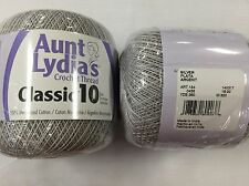 Aunt Lydia's Classic Crochet Thread Size 10 Silver 073650804038