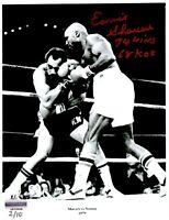 Earnie Shavers Signed 8x10 Photo vs. Ken Norton Inscribed Wins KOs #D/10 COA
