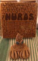 Vintage Nurds Novelty 70's Toy Brown Nerd w/ Blue Eyes 1976 Pet Rock New in Box