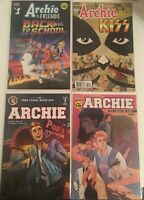 Archie Comic Book Lot Back To School, Meets Kiss, 699 The Saga so Far