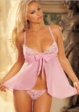 Sexy Lingerie Babydoll dress with G-Sting Pink Color ONE SIZE Valentine's Day