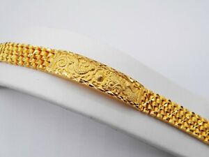 Lion Chinese 22K 24K Thai Baht Yellow Gold GP Bracelet Jewelry Women Men's 7""