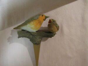 HALLMARK MARJOLEIN BASTIN SPRING FLOWER POT STAKE MOTHER BIRD FEEDING BABY