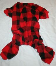New listing Scenereal Plaid Fleece Dog Winter Warm Sweater Pajamas Jumpsuit - M or L
