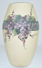 """Vintage Weller Cream with Flower Decorated Vase 8"""" tall"""