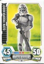 Star Wars Force Attax Series 3 Card #51 Clone Trooper Boost