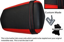 BLACK AND RED CUSTOM 03-05 FITS YAMAHA 600 YZF R6 REAR LEATHER SEAT COVER