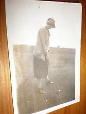 Old photo lady golfer c1920s