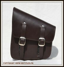 Borsa laterale telaio rigida Marrone { Harley softail wildstar daytona shadow }