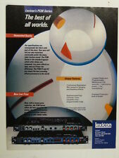 vintage magazine advert 1984 LEXICON PCM